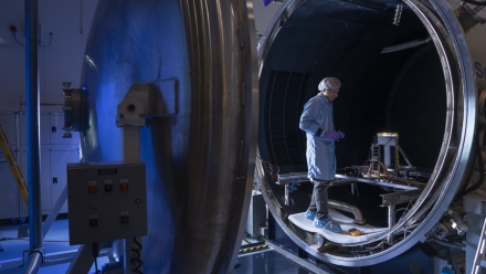 Thermal vacuum and thruster testing