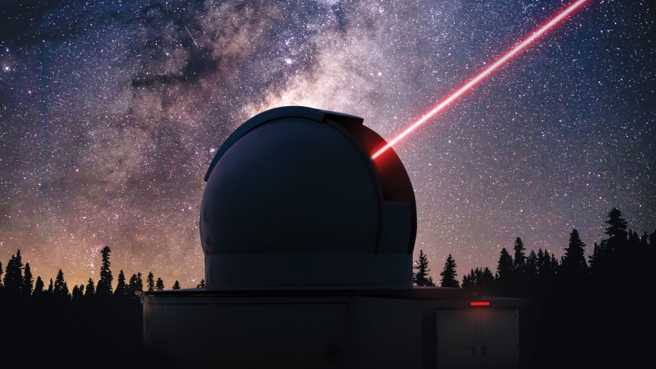 Dome with laser for advanced communications